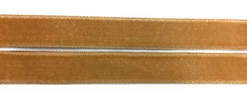 Gewebte Satin Ribbon Trim (Seiden-Samtband mit Satin-Rückseite, 1,6 cm, Taupe)