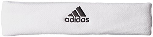 adidas Tennis Head Band, White/Black, One Size - Adidas Tennis-komfort