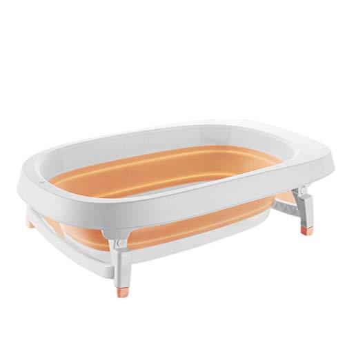 Tragbare Sicherheits-dusche (Kjz-bathtub Durable Folding Badewanne, Infant Sicherheit Duschwanne Haushalt Tragbare Dusche Eimer Hochwertigem Dickem Kunststoff 87 * 51 * 23 cm (Color : Orange, Size : 87 * 51 * 23CM))