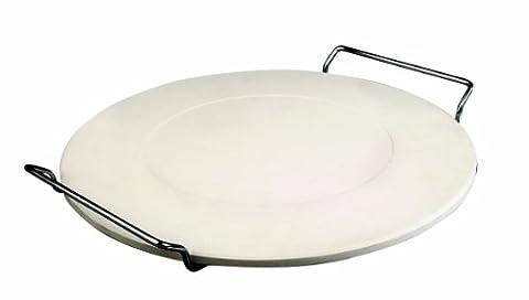 Ibili 778333 Pierre pour Pizza avec support 33 cm