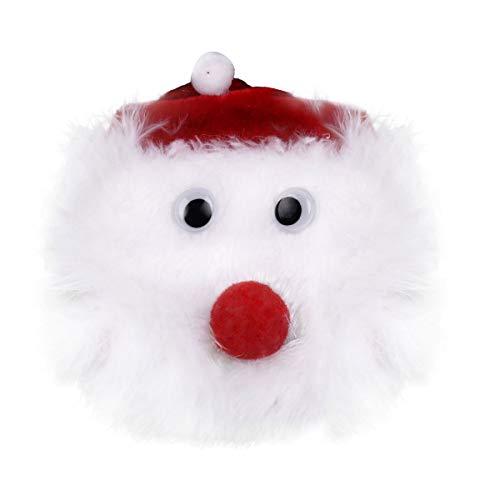 Tiaobug 1 Paar Nippel Cover Weihnachten Weihnachtsmann Pasties Wiederverwendbare Nippelabdeckung Brust Aufkleber Nippelpads für Xmas Party Geschenk Weiß One Size