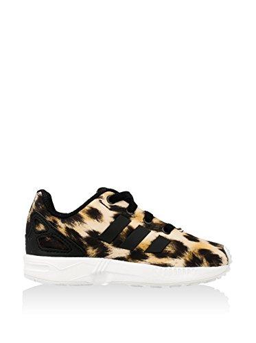 adidas Zx Flux - Sneaker Unisex - Bimbi 0-24 Nero / Marrone / Bianco