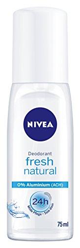 NIVEA 6er Pack Deo-Zerstäuber für Frauen, Ohne Aluminium, Deo-Schutz, 6 x 75 ml, Fresh Natural