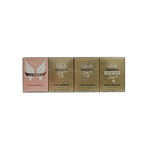 Paco Rabanne Women Miniature Gift Set 6ml Olympea EDP + 5ml Lady Million Absolutely Gold (5 Ml Edp)