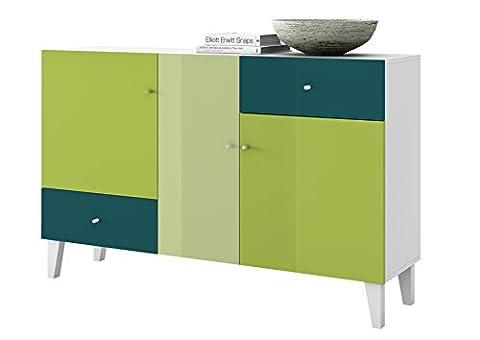 HMW Möbel Kommode, Holz, mehrfarbig, 143 x 39 x 90 cm