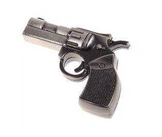 Silber 8Gb Praktische Edelstahl Gun Shaped U Disk USB Flash Drive Speicher (Gun-speicher)