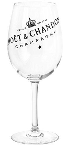 Moët & Chandon Champagne Champagner Glas mit schwarzem Logo Aufdruck (1 Stück)