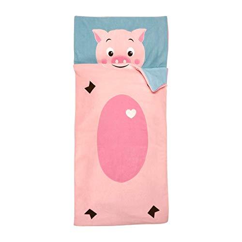 Home Creation Kinder Schlafsack 70 x 160 cm Kids Schlafsack Kinderdecke Kinderschlafsack Rosa Schwein