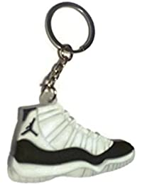 e0c1b36640a03 Jordan XI 11 concrod Negro Blanco Zapatillas Zapatos Llavero