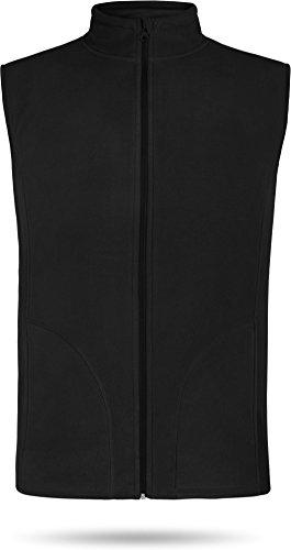 Herren Fleeceweste Bodywarmer Outdoor Kälteschutzweste [S-XXL]? Farbe Schwarz Größe XL