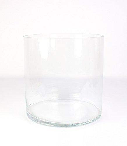 Jarrón cilíndrico SANSA de cristal, transparente, 30 cm, Ø 30 cm -...