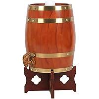 Barril de vino Multifuncional Vino Botte di Rovere, 3L-30L Vino Bianco Botte di Vino Rosso Decoración del hogar Botte di Vino Botte di Birra Colore del legn (Color : C, Tamaño : 10L)