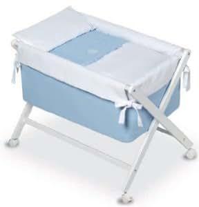 Bimbi Elite–Minicuna, 68x 90x 71cm, colore: bianco/blu