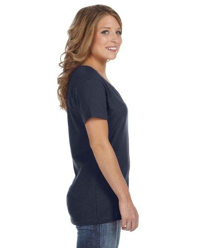 Anvil - T-shirt à col en V - Femme bleu marine
