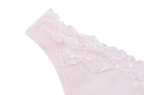 Topwhere® Femme Coton Soutiens-Gorge Sommeil / Maternité Bra Light Pink+Grey