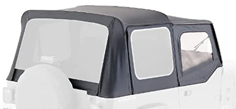 Rampage Jeep 99435 Soft Top, OEM Replacement, with Door Skins, 1988-1995 Jeep Wrangler, Black Diamond with Tint Windows by RAMPAGE PRODUCTS