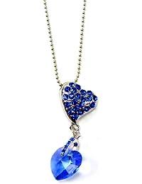 Elegante collar con Swarovski piedras preciosas corazón plata muchos modelos OW3