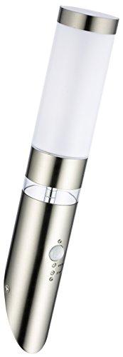 Sonderangebot des Monats-Edelstahl LED Außenwandleuchte Lisa 1 Wandleuchte mit Hauptlicht und Grundlicht und Bewegungsmelder, Außenlampe Außenleuchte Fackel-Leuchte Tag/Nachtsensor Dämmerungssensor