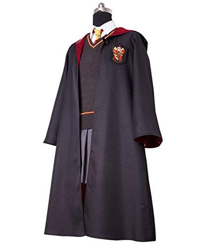 (Huiyemy Harry Potter Gryffindor Uniform Hermione Granger Cosplay Kostüm für Erwachsene L)