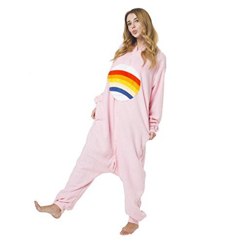 Imagen de katara 1744  kigurumi pijama disfraz de animal traje de dormir para adultos unisex  cosplay, carnaval o halloween  oso amoroso alegrosita rosa con capucha  l alternativa