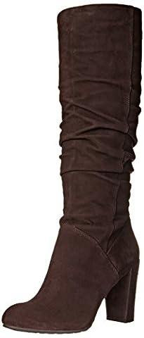 Nine West Shiryl Knee High Boot, Dk Brown, 6.5 UK