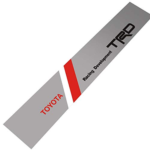 Demupai Front Windshield Banner Decal Vinyl Car Stickers for TRD Racing  Development (Silver Background) 646cbce98868