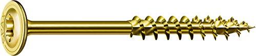 SPAX Holzbauschraube, 10,0 x 300 mm, 25 Stück, T-STAR plus, Tellerkopf, Teilgewinde, 4CUT, Verzinkt gelb passiviert A2L, 0251021003005