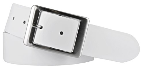 Vanzetti Damen Leder Gürtel Belt Ledergürtel Damengürtel weiss 40 mm (95 cm)