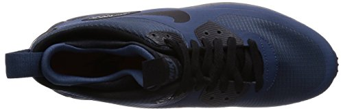 Nike Air Max 90 Mid Wntr, Chaussures de Running Entrainement Homme Azul / Negro / Gris (Squadron Blue/Black-Dark Grey)