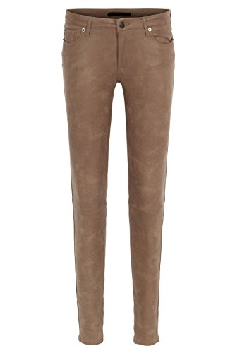 bloom 5-Pocket-Hose in Leder-Optik 36, Beige (Pocket 5 Hose Leder)
