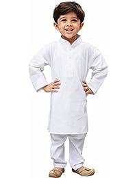 JBN Creation Boys Cotton Kurta and Pyjama Set (White_VASBKP026new)