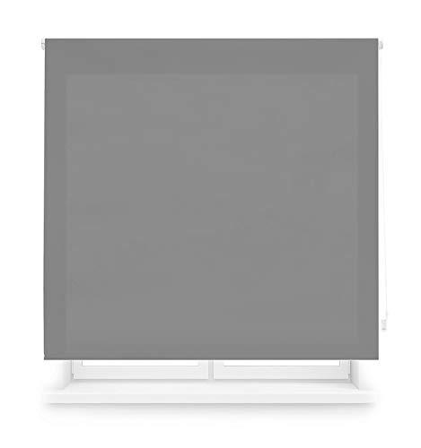 MERCURY TEXTIL Estor Enrollable translúcido Liso (Gris, 150x180cm)