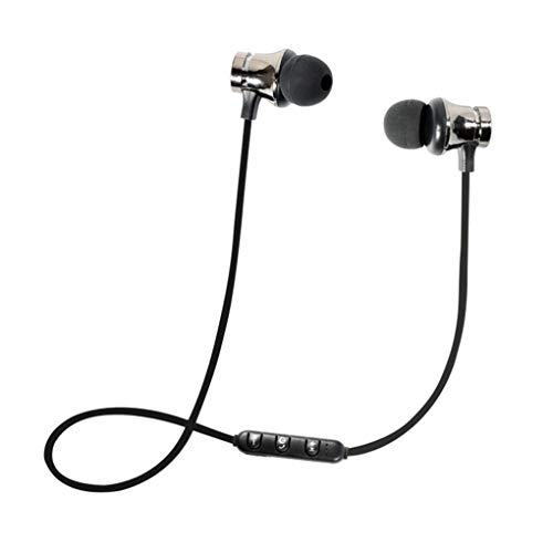 Dorical Bluetooth Kopfhörer, Kabellos Headset, BT 4.1 Stereo Kopfhörer Headset Kabellos Magnetisch Im Ohr Ohrhörer Kopfhörer Sale(Schwarz,One size)