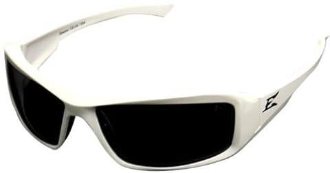 4001990 Edge Eyewear Brazeau White Frame Polarized Smoke Lens