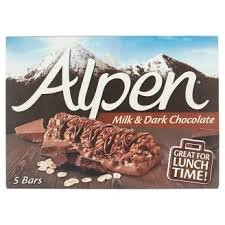 Alpen Milk & Chocolate 5 Bars, 145g