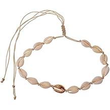 e0319694f618 Lisanl Summer - Collar de concha blanca para vacaciones en la playa 1