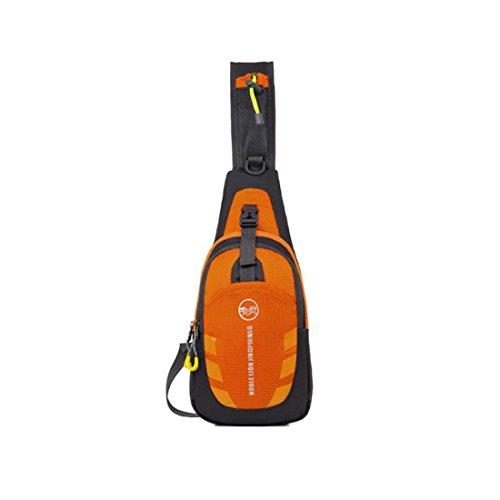Zeafin Sport Wandern Nylon Freizeit Camping Outdoor Rucksäcke Segeltuch Kleine Taschen Orange