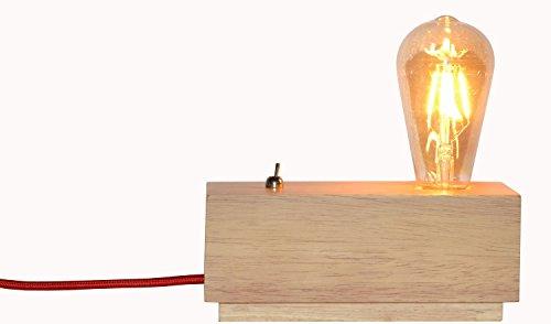 schicke hölzerne dekorative beleuchtung schlafzimmer lampe warm europäischen minimalistischen lampe bett leuchte lampe (farbe: holz - lampe led - lampe eingeschlossen) (Hölzerne Lampe)