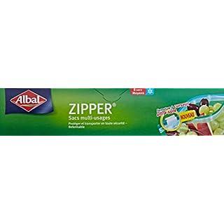 Albal 8 Sacs Multi-Usages, Curseur Zipper, Hermétique, 3 L (moyen)