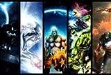 Personnage de bande dessinée Hulk Thor Spiderman Captain America Marvel Comics Mouse Pad, Mousepad (25,9x 21,1x 0,3cm)
