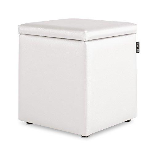 HAPPERS Puff Cubo Arcon Polipiel Indoor Blanco