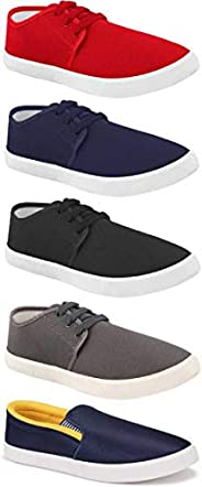 WORLD WEAR FOOTWEAR Men's Casual Shoes (Set of 5 Pa