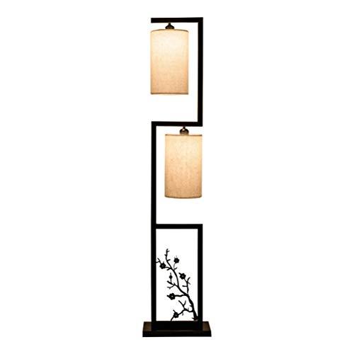 Weißes Ambiente Ist Die Kunst (Ti-Fa Stehlampe Retro Stehlampe LED Stehlampe Für Wohnzimmer Schlafzimmer Büro Studie Hotel Eisen Kunst Torchiere Tuch Lampenschirm)