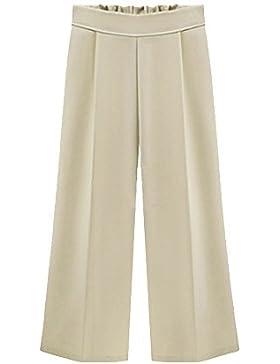 Mengmiao Pantalones De Mujer Tallas Grandes Anchos Pierna Cintura Elástica De Cintura Pantalones