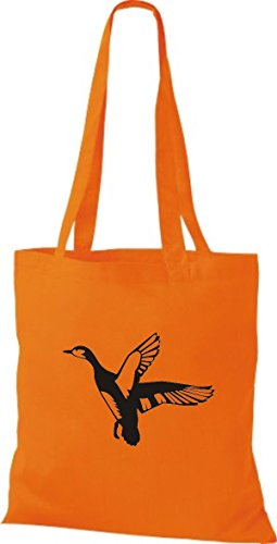 Shirtstown Pochette en tissu Animaux de l'Oie Sauvage, Duck, canard, Goose Orange - Orange