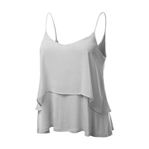 DAYSEVENTH Womens Sexy Sleeveless Halterneck Tank Crop Tops Vest Blouse T-Shirt