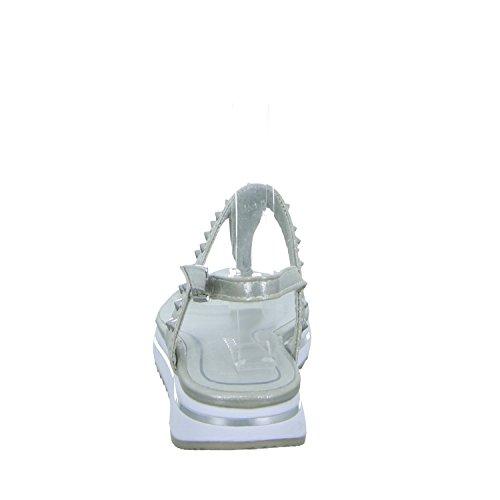 Marco Tozzi 2-28720-28 941 Damen Sandalette sportlicher Boden Grau (Silber)