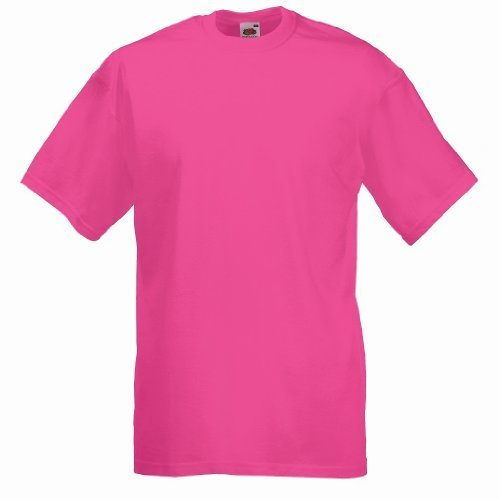 Fruit of the Loom - Classic T-Shirt 'Value Weight' L,Fuchsia