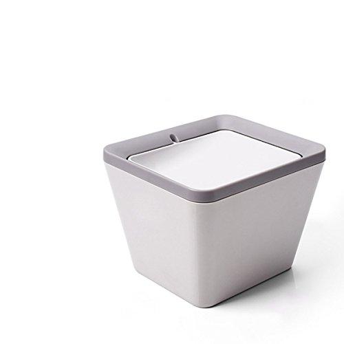 Mini Mülleimer, Tischmülleimer, Schreibtisch Papierkorb mit Schwingdeckel , Desktop Schütteln Mülleimer, Komposteimer mit Deckel Küche