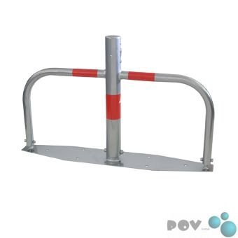 Preisvergleich Produktbild POV® Parkplatzsperre Ø 60 mm, umlegbar mit Profilzylinderschloss